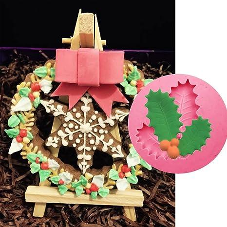 Stampo Agrifoglio Decorazione Natalizia Natale Torte Dolci Pasta