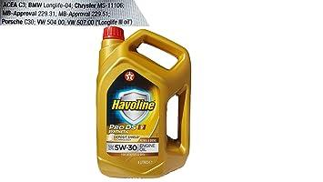 Aceite coche 5w30 Texaco Havoline ProDS V 4Ltrs