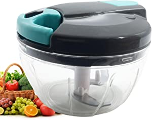 Mini Manual Food Processors & Chopper With Cover and Handle, Vegetable Shredder,Suitable for Garlic Carrots Onions Peppers Fruits Mincing,Ideal Gift for Kitchen.