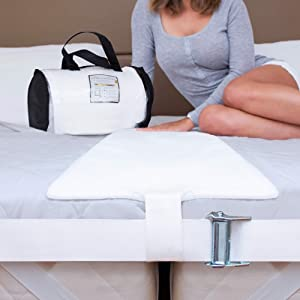 Savvy Life Selects Bed Bridge Connector Twin XL (Ultra Wide) 12 Inch Non-Slip Design   Adjustable Mattress Connector   Twin to King Converter Kit   25D Memory Foam Mattress Extender   Storage Bag