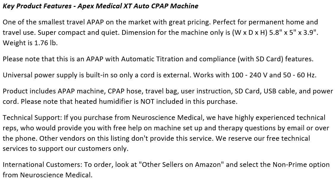 Apex_Medical_XT_Auto_CPAP_Machine