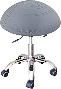 THE ORIGINAL Balance Fit Ball Office Chair, Adjustable Desk Stool - Ergonomic Office Chair, Exercise & Yoga Ball for Office, Stability Balance Ball Provides Support & Core Strength 3 YEAR WARRANTY