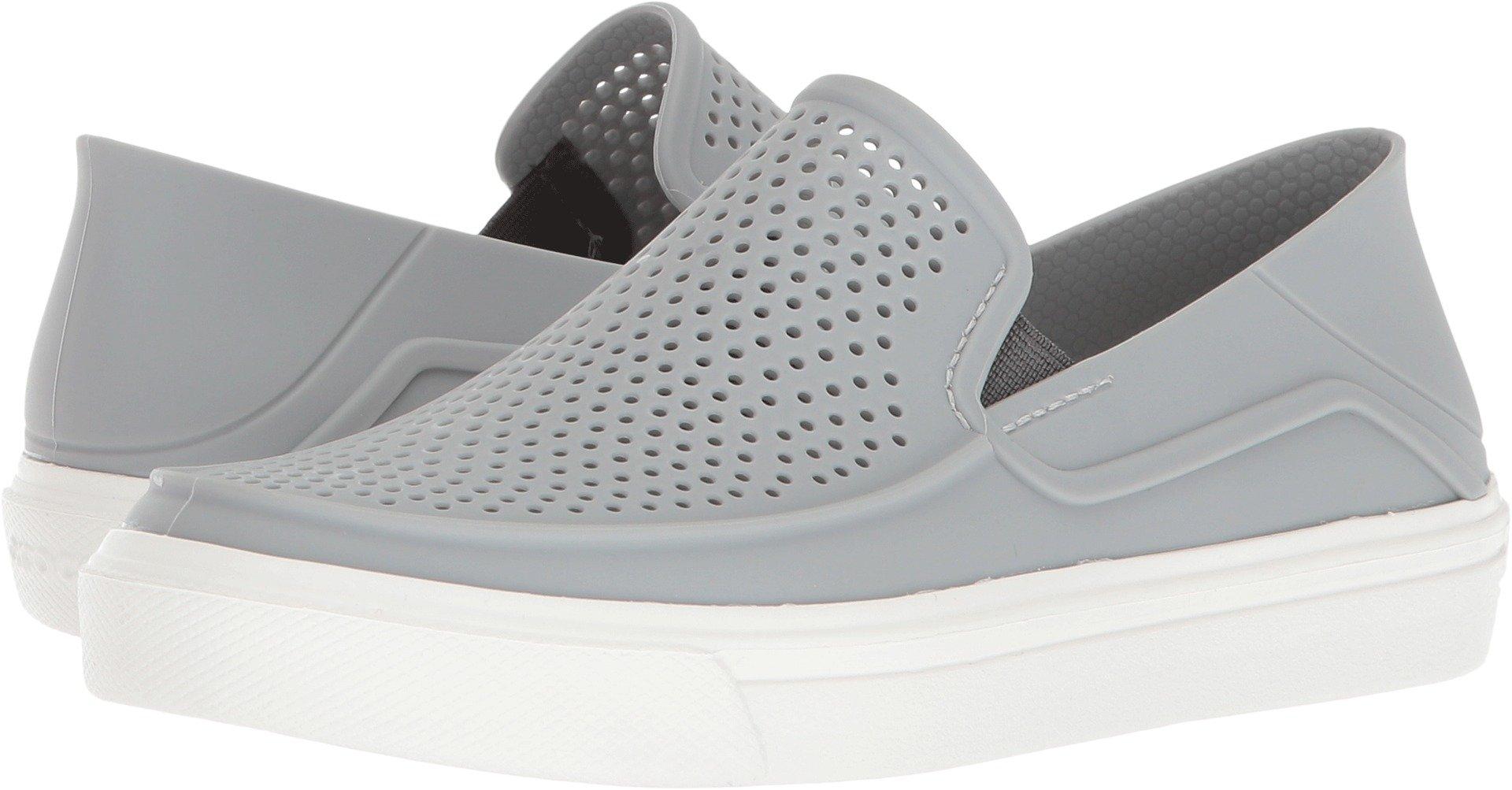 Crocs Kids' Citilane Roka Slip-On, Light Grey/White, 2 M US Little Kid by Crocs