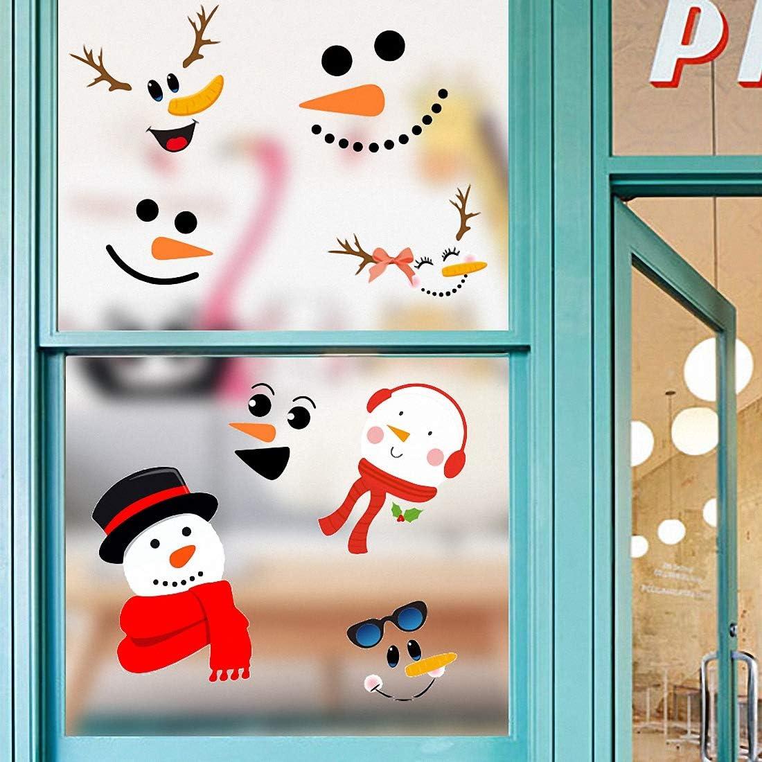Weihnachtsdeko Fenster Glasfronten Deko T/üraufkleber Wandaufkleber Fenstersticker Fensteraufkleber Fensterdeko Selbstklebend Weihnachten Fensterbilder Kinder f/ür T/üren Schaufenster Vitrinen