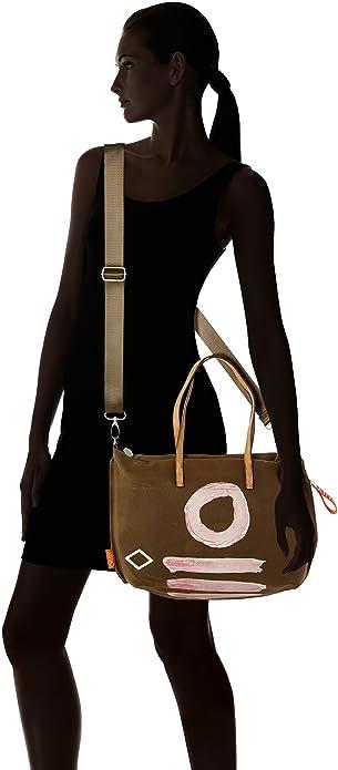 H Oilily Zapatos Amazon b mujer T taupe Canvas Shopper Beige Mhz Satchel para y X bolsos Fun 15x31x44 Cm es rBrqOTw4