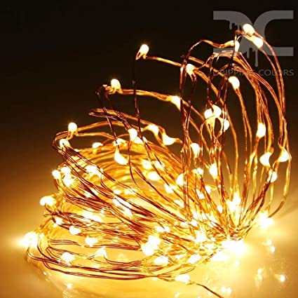 Dripping Colors Waterproof USB Copper 5M LED String Lights, 50 LEDs (Warm White)