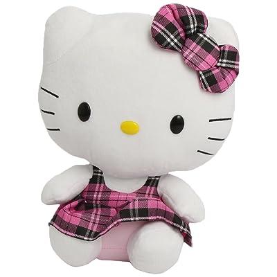 Ty Beanie Buddy Hello Kitty Tartan Plaid Overalls: Toys & Games