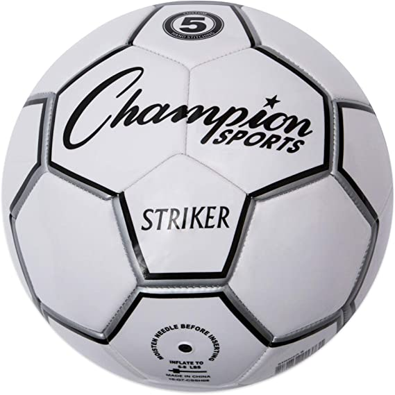 Champion Sport Striker – Balón de fútbol, Color Negro/Blanco ...