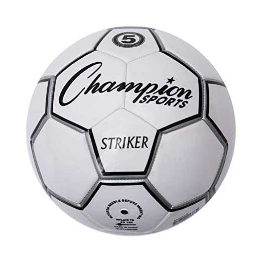 Champion Sport Striker - Balón de fútbol, Color Negro/Blanco ...