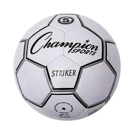 Champion Sport Striker - Balón de fútbol, Color Negro/Blanco ...