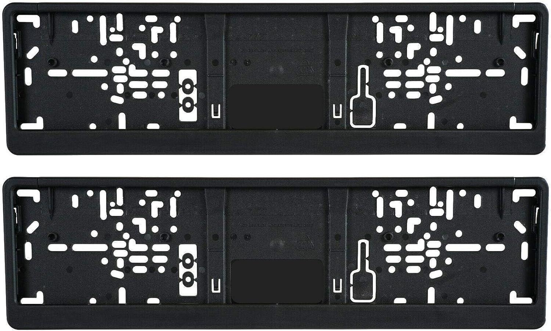3d Carbon Design 2x Kurz Kennzeichenhalter Schwarz 46 11 460 X 110 Mm Für Auto Kennzeichen 46 11 460 X 110 Mm Mit Schwarze Rand Auto