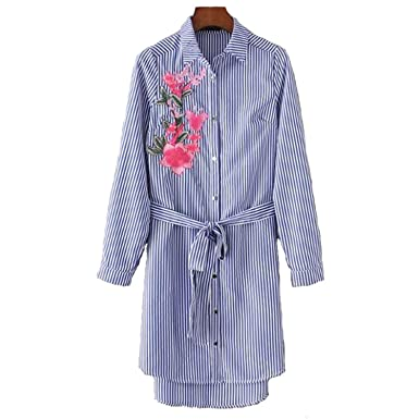 Henraly Women Casual Embroidery Summer for Woman Vestidos at Amazon Womens Clothing store: