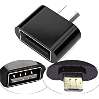 Storite Cute Little Square Micro USB 2.0 OTG Adapter for Smartphones & Tablets (Black)