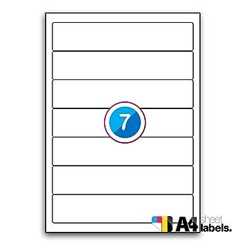 Multi Propósito blanco permanente etiquetas para archivadores – 7 etiquetas por hoja – 100 hojas 192