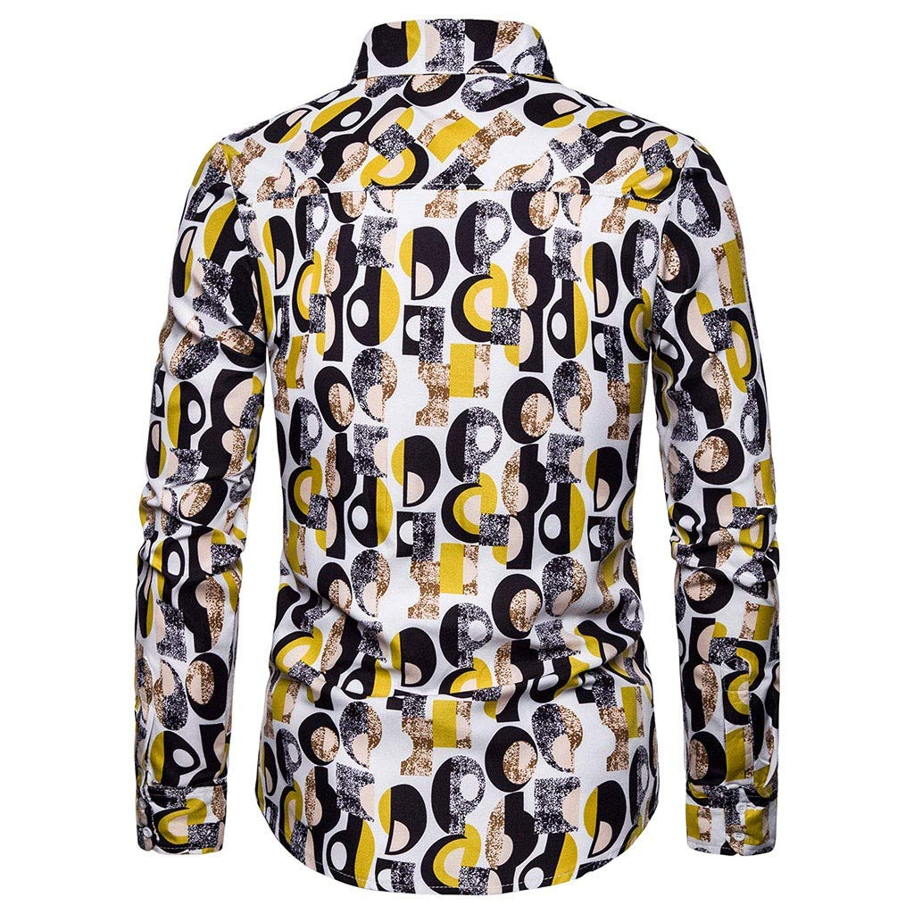 Floral Print Shirt Paisley Mans Daily Button Down Retro Casual Slim Casual Chic Print Work Regular Fit