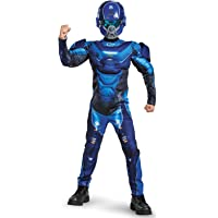 Disguise Blue Spartan Classic Muscle Halo Microsoft Costume, Medium/7-8