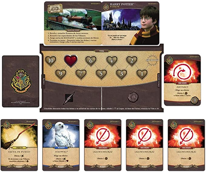 Usaopoly- Harry Potter Hogwarts Battle - Español, Multicolor, Talla Única (USHB01ES): Amazon.es: Juguetes y juegos