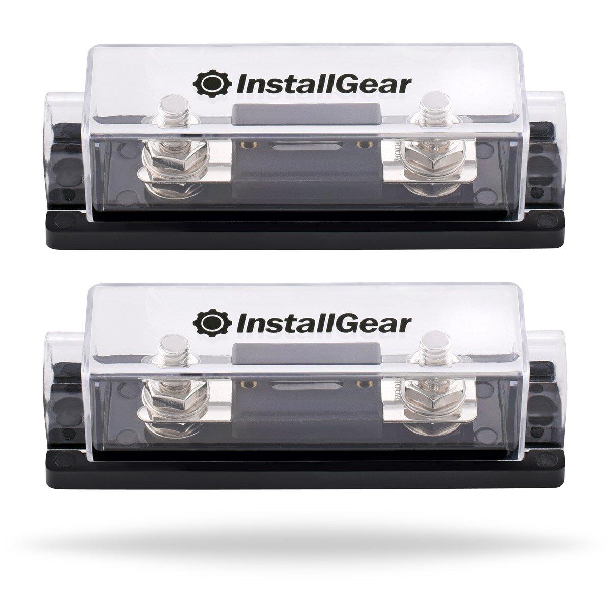 Installgear 0 2 4 Gauge Ga Anl Fuse Holder 250 Amp Ac Box Handles Fuses Pack Automotive
