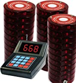 SHIHUI 30 Coaster Pagers+1 Keypad Queue Call Pager Restaurant Wireless Calling