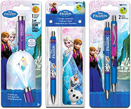 Disney Frozen Projector Pen Super Set -- Pack of 4 Deluxe Frozen Pens Featuring Elsa, Anna and Olaf (Disney Frozen School Supplies, Office Supplies)