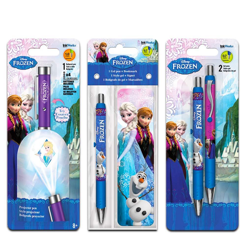 Disney Frozen Projector Pen Super Set -- Pack of 4 Deluxe Frozen Pens Featuring Elsa, Anna and Olaf (Disney Frozen School Supplies, Office Supplies)