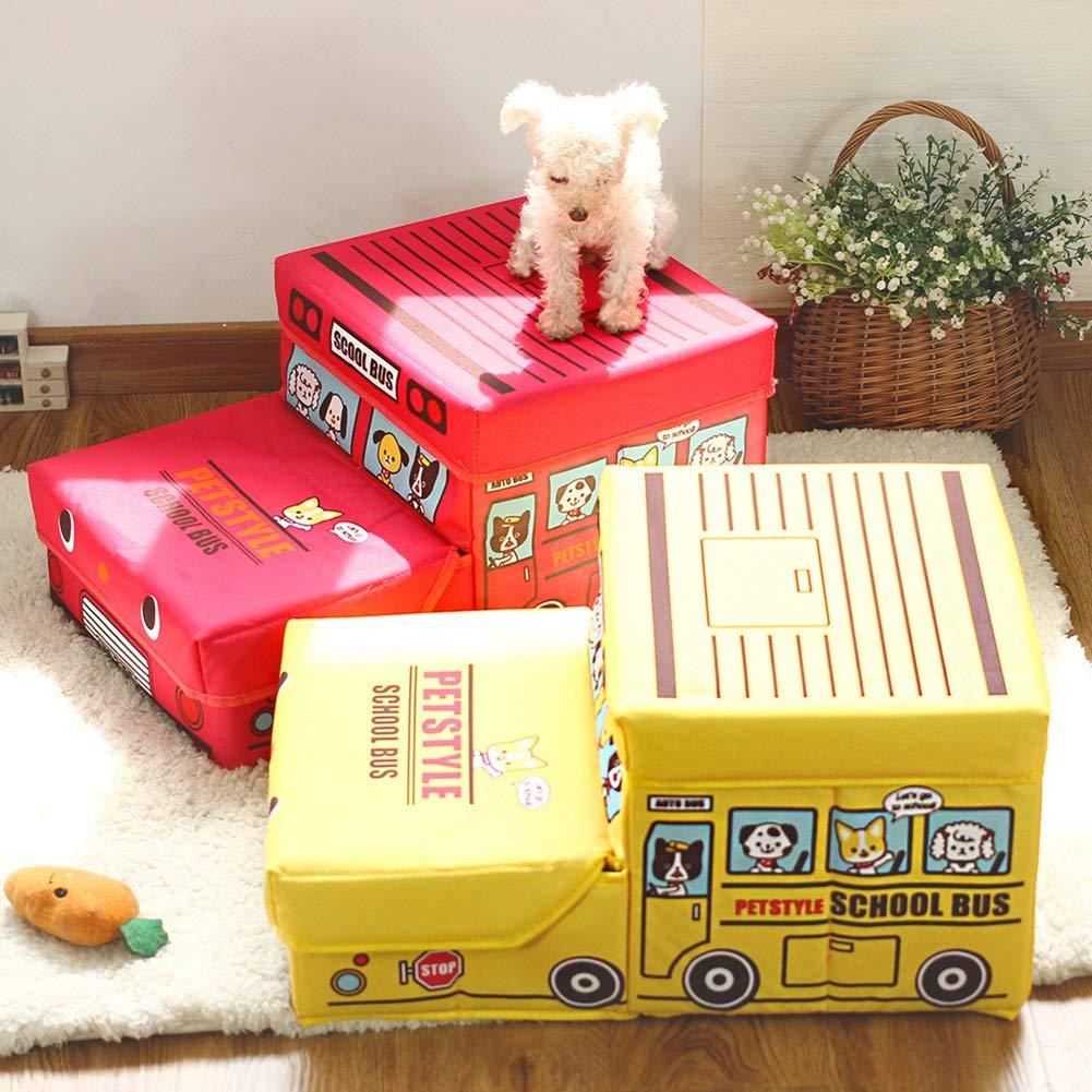 Escaleras y escalones Escaleras Plegables para Mascotas 2 Pasos para El Perro, Medidas para Mascotas En La Cama/Sofá del Gato, Lindas Escaleras Estilo Gato ...
