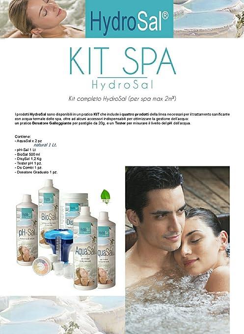 HYDROSAL Kit Tratamiento Agua para SPA con Jacuzzi y Piscina a ...