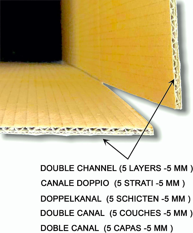 para Transporte o Almacenaje 5 Canal Doble 5 Capas Alta Calidad Reforzado muy Resistentes y Reutilizables Packs de 5 Cajas Cart/ón Mudanza Grandes con Asas 55x35x35