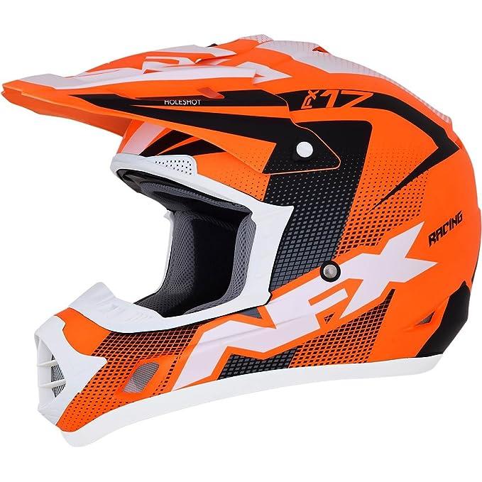 AFX 0111-1108 Holeshot Youth Helmet (Orange/Black/White, Small)