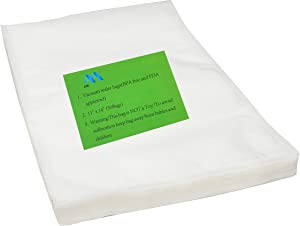 AMJ Vacuum Sealer Bags - Size 11x14(50Bags) Inch for Food Saver & Seal a Meal Vac Sealers, BPA Free, Heavy Duty Commercial Grade