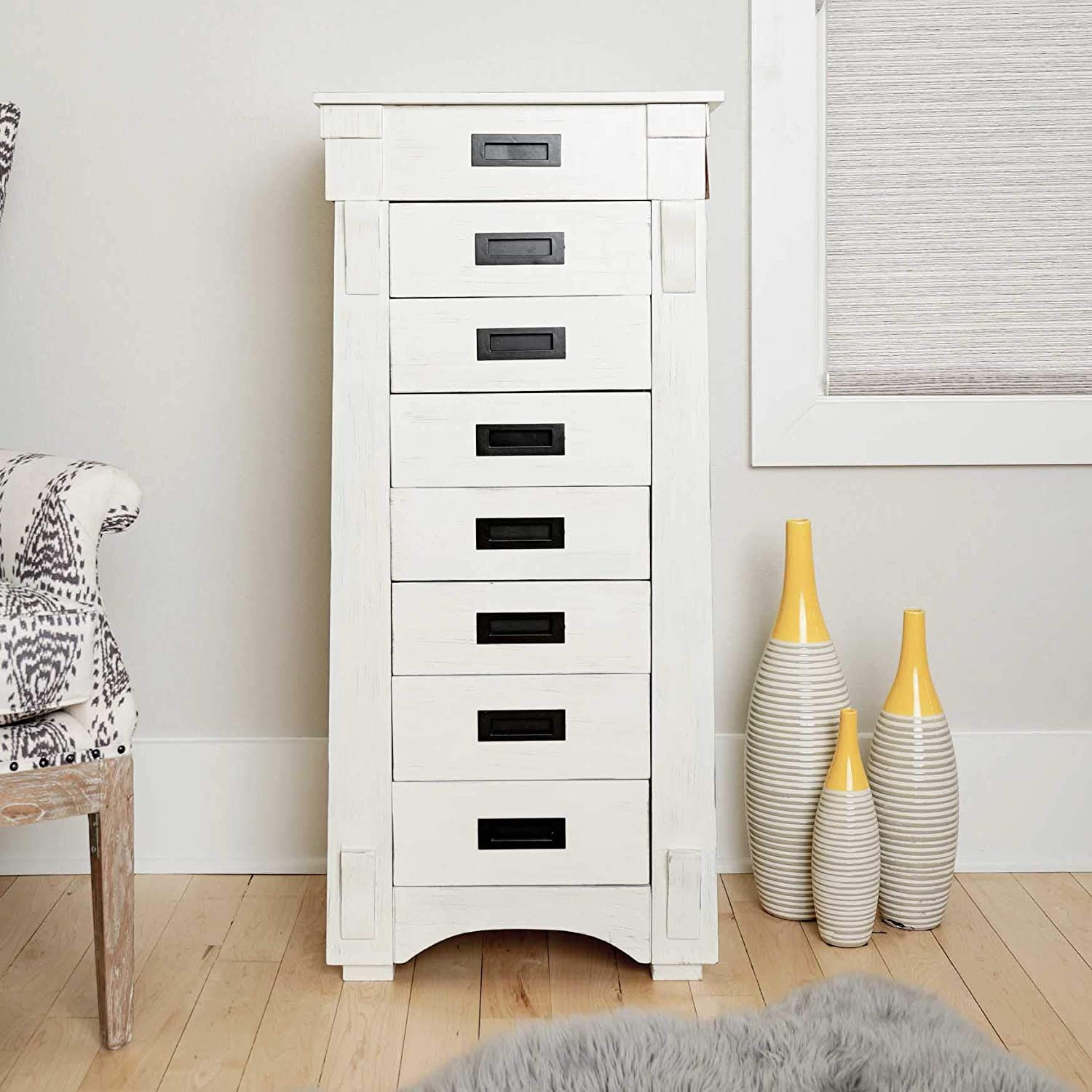 Hives and honey 6008 349 mission standing jewelry armoire white