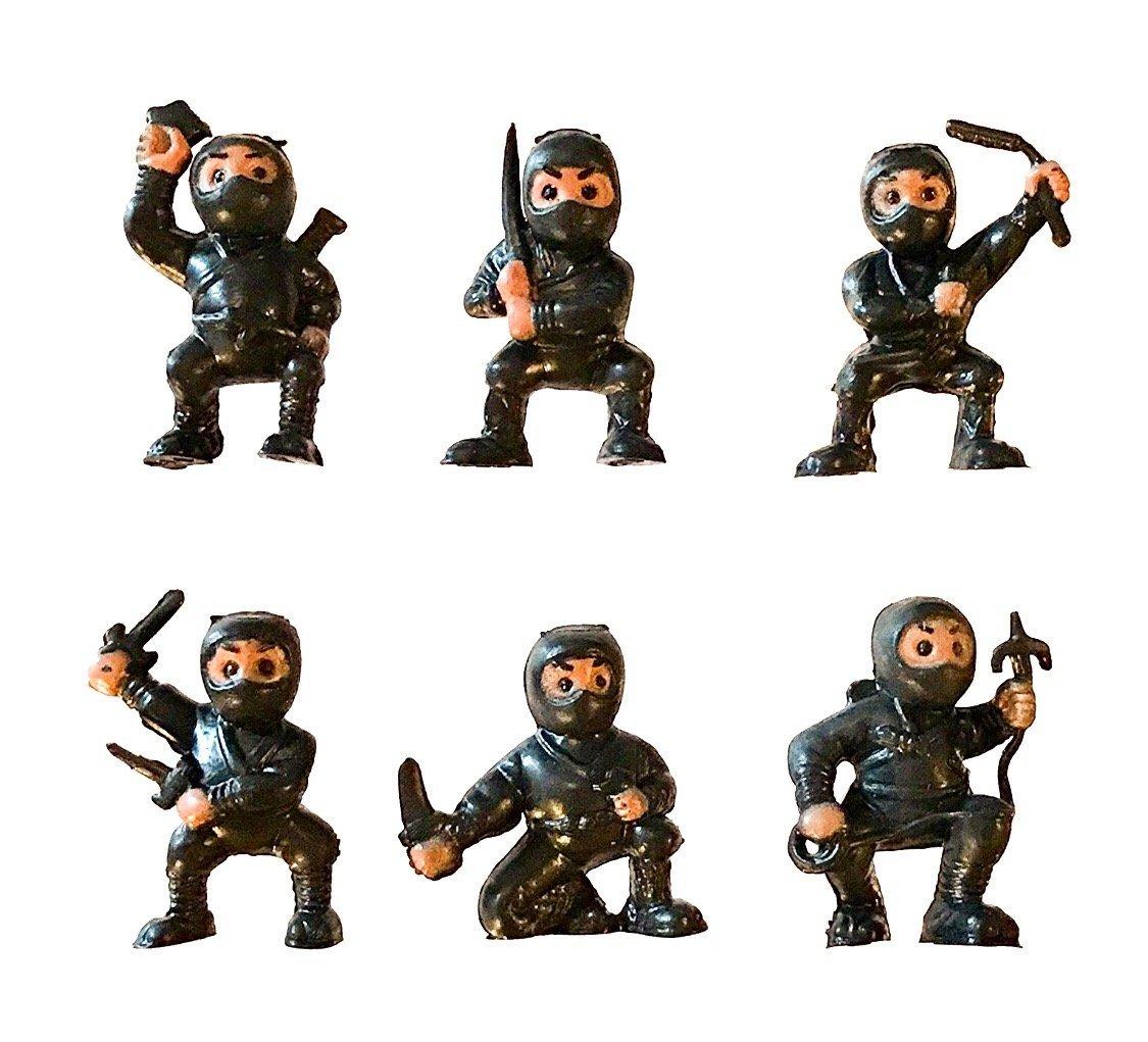 fb 18 Black Mini Karate Ninjas Warriors Fighters Figures Cupcake Cake Toppers Ninja Kung Fu Guys Martial Arts Men Lot Party Favors
