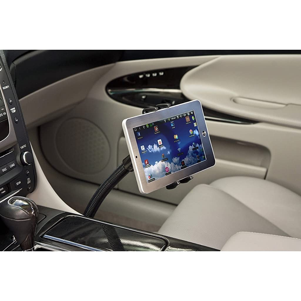 Premium Seat Bolt Car Mount Vehicle Holder for Samsung Galaxy Tab S2 S3 A E S8 S7 Plus / Apple iPad Mini, Apple iPhone X 8 7 6 Plus / LG Pad V30 (5-8