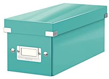 Leitz Caja para guardar CD, Turquesa, Click and Store, 60410051: Amazon.es: Oficina y papelería