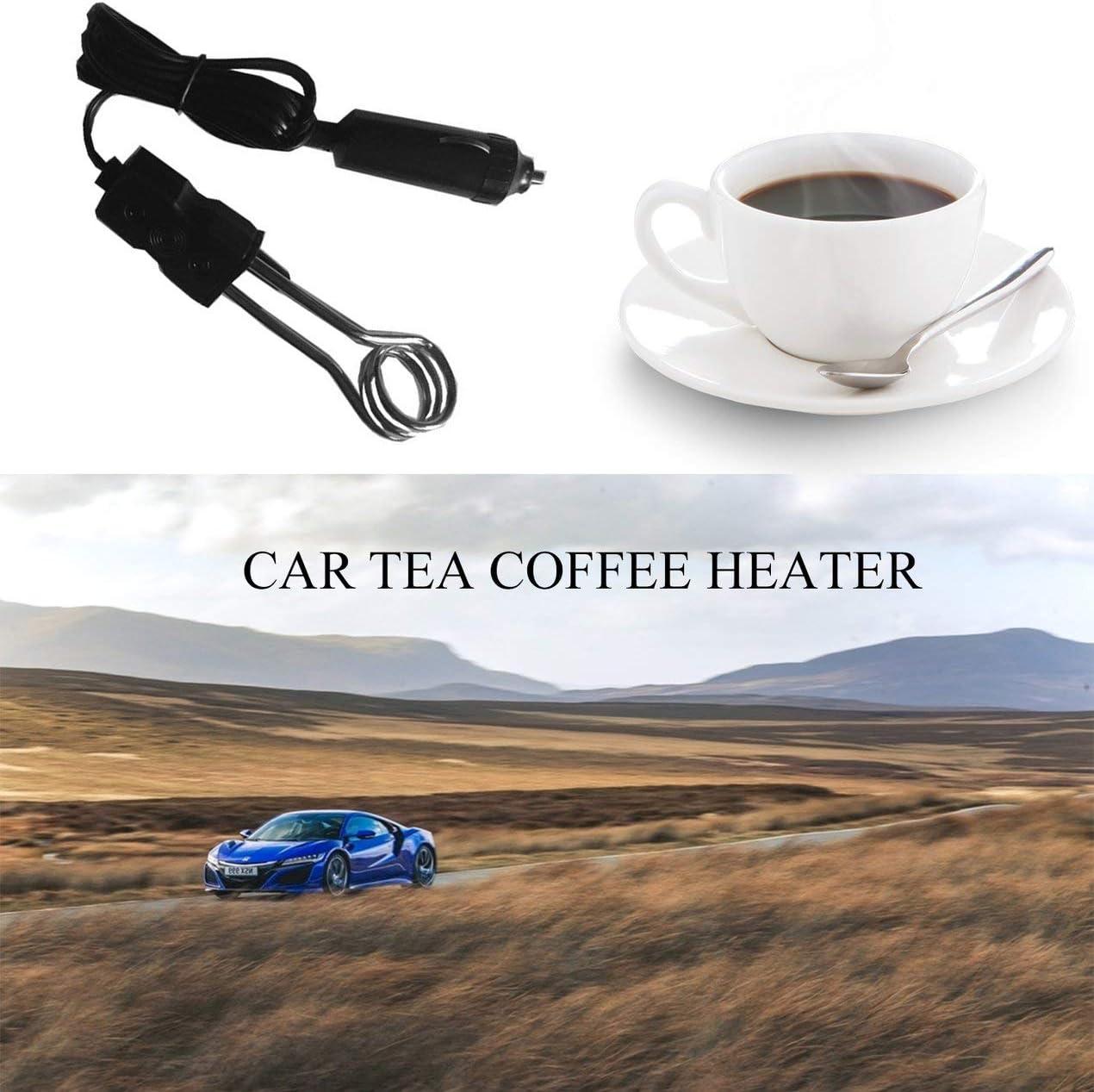 Schwarz Longspeed Tragbare 12V Auto-Tauchsieder Auto Electric Tea Coffee Warmwasserbereiter