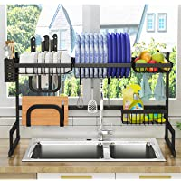 Pusdon Over Sink Dish Drying Rack in Black