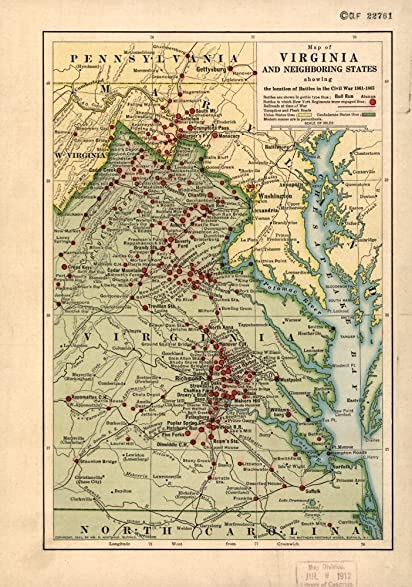 Amazoncom Vintage 1912 Map of Map of Virginia and neighboring