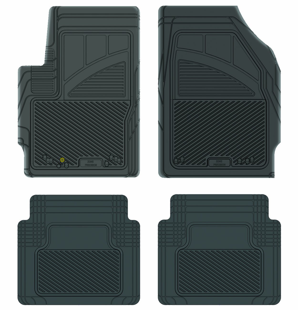 Black 17508 Koolatron Pants Saver Custom Fit 4 Piece All Weather Car Mat for Select Mazda Tribute Models