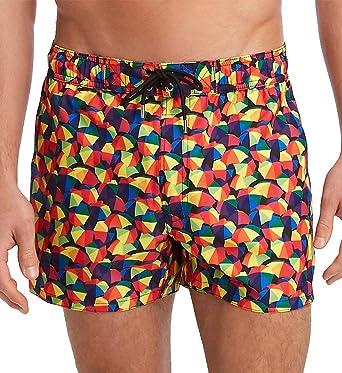 4615c3076f123 2(X)IST Men's Pride Ibiza Swim Trunk Swimwear, Beach Umbrella/Rainbow