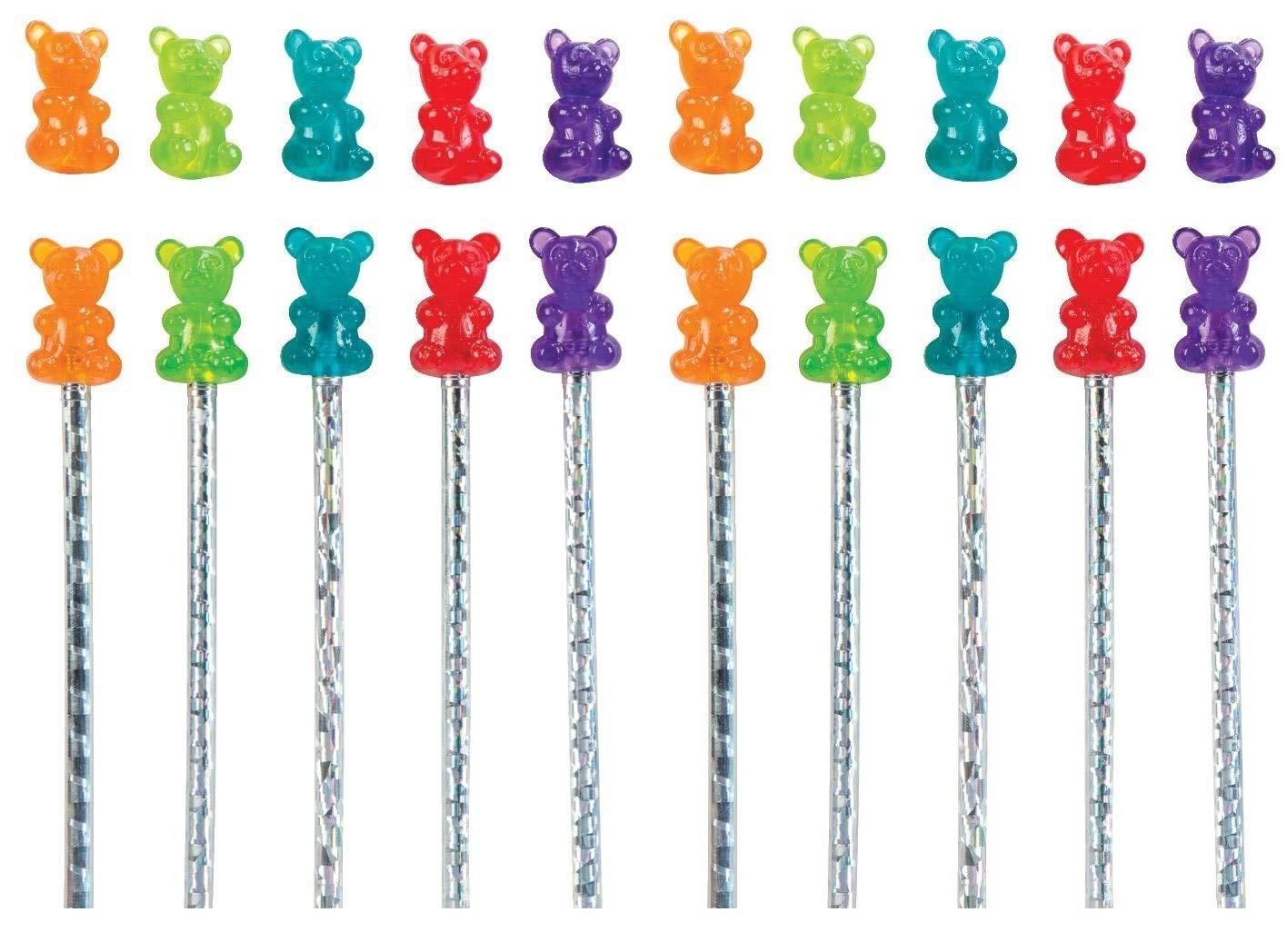 Raymond Geddes Gummy Bear Scented Pencil Topper, 24 Pack (69748) (Вundlе оf Тwо)