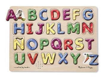 Amazon.com: Melissa & Doug Spanish Alphabet Sound Puzzle (27 pcs ...