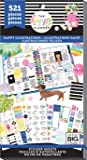 me & my BIG ideas Sticker Value Pack - The Happy Planner Scrapbooking Supplies - Happy Illustrations Theme - Multi-Color - Great for Projects, Scrapbooks & Albums - 30 Sheets, 521 Stickers Total