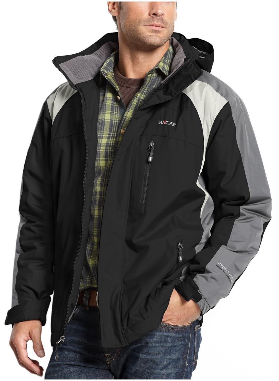 32Degrees by Weatherproof Men's Hydro Tech Ski Jacket, Black, S