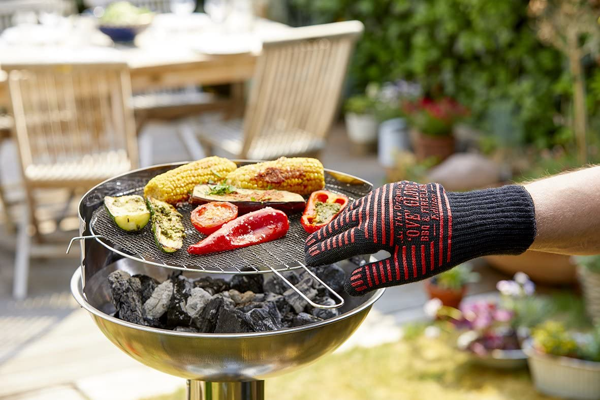 Fireproof grilling gloves Suitable as cooking gloves and baking gloves BBQ gloves heat resistant Durandal Ove Glove Grilling accessories 1 unit