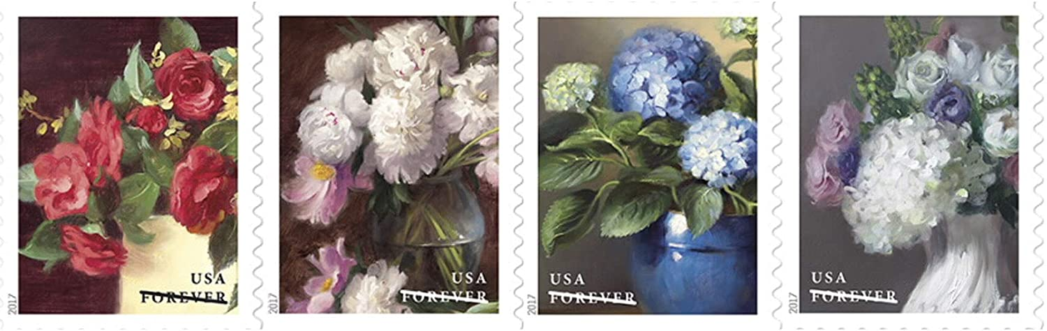 Flowers from The Garden USPS First Class Postage Stamps Celebrate Beauty Wedding (Strip of 20)
