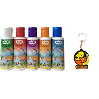 Foodie Puppies Rid-All Fish Medicine 120ml with Free Key Ring (Pack of 5 - General Aid, Anti Itch, Anti Chlorine, Anti Fungus, Water Clear)