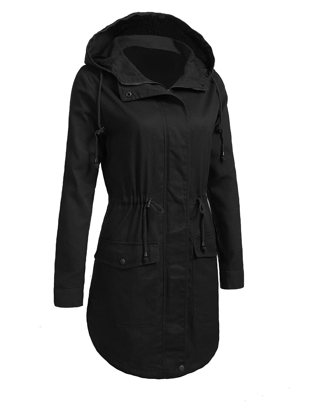 Zeagoo Womens Waterproof Lightweight Jacket Active Outdoor Hooded Anoraks Raincoat Windbreaker 4 Style S-XXL