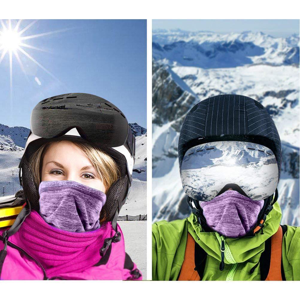 Cache-Cou V/élo Windproof Neck Warmer Travail de Plein air en Hiver Masque de Ski Multifonctionnel Randonn/ée p/édestre Unisexe Holspe Cache-Tube Tube Echarpe Loop Scarf Moto
