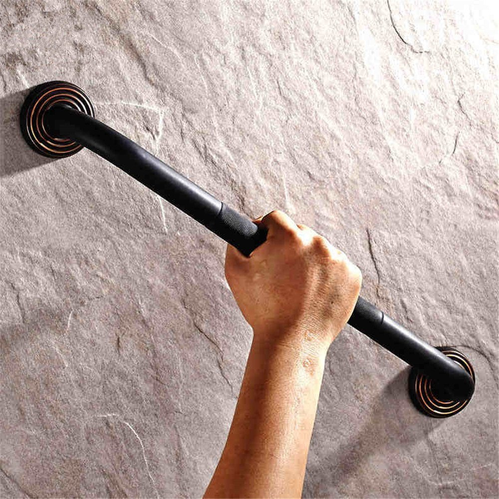 Leyden TM Luxury Wall Mount Tub Safety Grab Bar Handgrip Oil Rubbed Bronze Finish Solid Brass