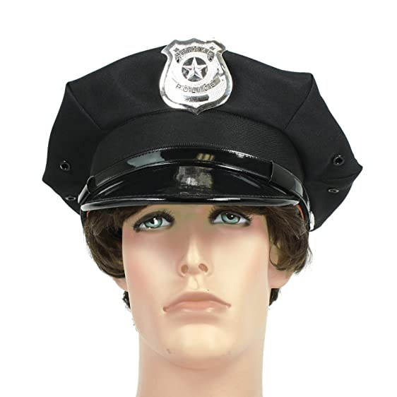 Police Officer Beat Cop Chauffeur Costume Hat Black  sc 1 st  Amazon.com & Amazon.com: Police Officer Beat Cop Chauffeur Costume Hat Black ...
